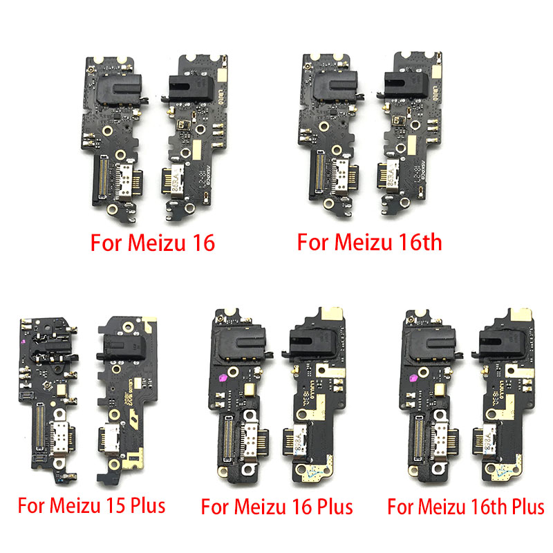 Dock Connector Micro USB Charger Charging Port Flex Cable For Meizu 16 16th Plus Microphone Board