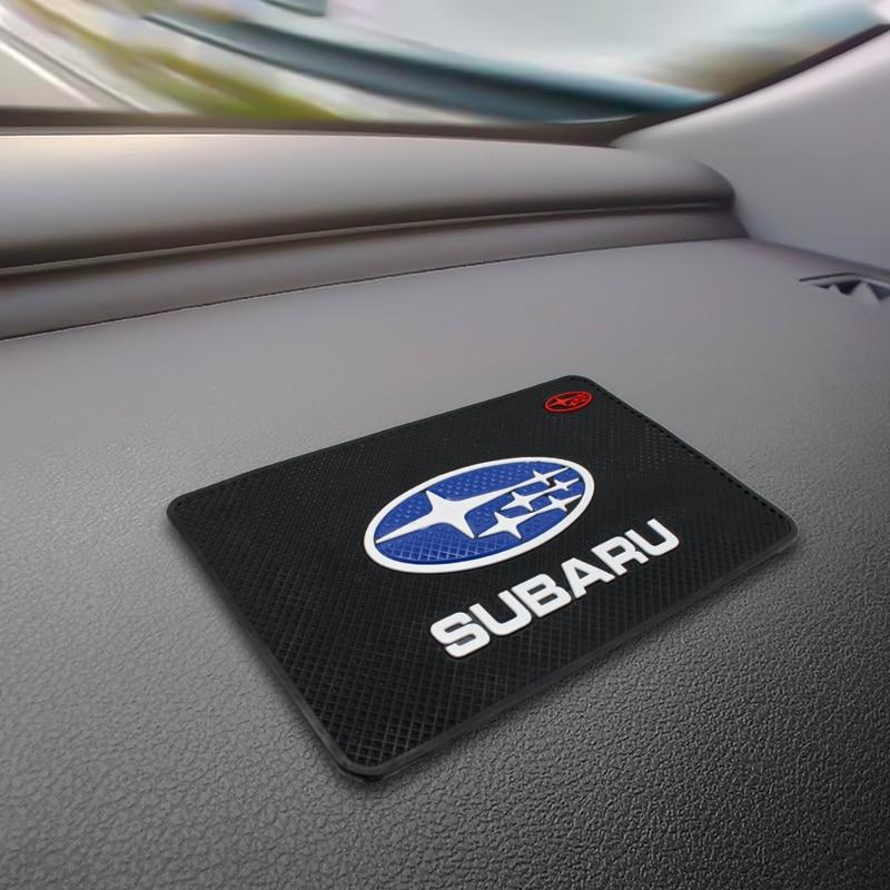 Car Anti Slip Pad Silica Gel Sticky Pad Dashboard Mobile Phones Shelf Cushion For Subaru Forest Human Lion XV Impreza WRX WRC