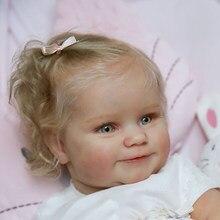 Rsg 20/24 polegada diy em branco reborn bebê boneca peças sorriso maddie unpainted inacabado boneca peças do bebê inacabado vinil kit
