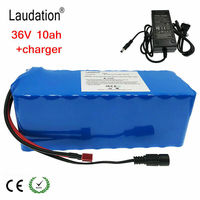 36V 10Ah lithium battery with charger rechargeable electric bicycle 36V battery pack wheel chair electric lithium ion battery