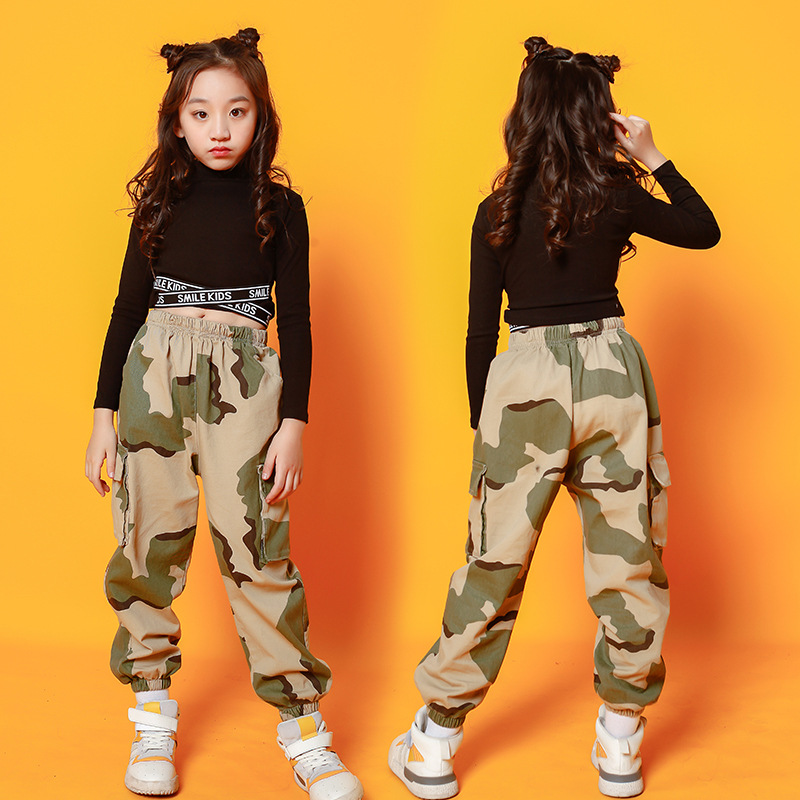 Kid Adult Hip Hop Clothing Hoodie Sweatshirt Shirt Crop Top Jazz Ballroom Dance Cosplay Costume Causal Pants For Girl StreetWear