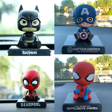 Action-Figure-Deadpool Car-Decoration Spiderman Marvel Avengers Batman Captain-America