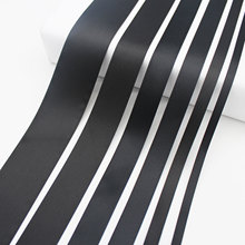 5 Meter/Lot Black Satin Ribbon ECO-Friendly Tape Double Face Fabric Trims DIY Wrapped Gift Packages 6mm 9mm 16mm 25mm 38mm(China)