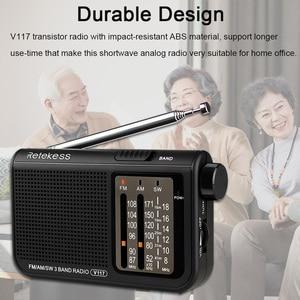 Image 5 - RETEKESS V117 AM FM SW Portable Radio for the elder Transistor Radio Receiver Short Wave Battery Powered Advanced Tuner Receiver