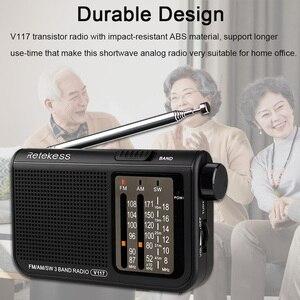 Image 5 - Retekess V117 Am Fm Sw Draagbare Radio Voor De Oudere Transistor Radio Ontvanger Korte Golf Batterij Aangedreven Geavanceerde Tuner Ontvanger