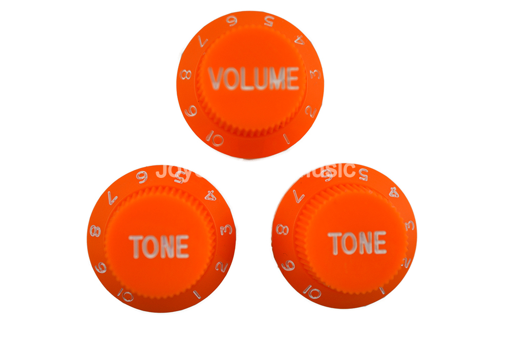 Niko Orange 1 Volume&2 Tone/Lot Electric Guitar Control Knobs For Strat Style Electric Guitar Free Shipping Wholesales