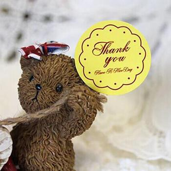 5Pieces/Bag Thank You Children Gilded Rewards Flash Sticker Praise Label Award Sticker image