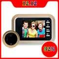 Night Vision Video-Eye Video Recording Security Door Bell  Door Smart Electronic 160 Degree Video Doorbell Cat Eye Electronic