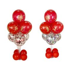 New Year DIY Christmas balloon Xmas Docking column table floating display stand crystal base bracket support rod ZB263