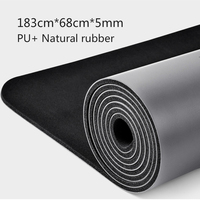 Natural rubber PU material two color yoga mat three piece with positioning line non slip tasteless widened Pilates 183*68*0.5cm