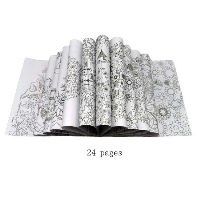- Mega Discount #94c03 - 1 Pcs 24 Pages Secret Garden Coloring Book For  Children Adult Relieve Stress Kill Time Painting Drawing Book Cicig.co