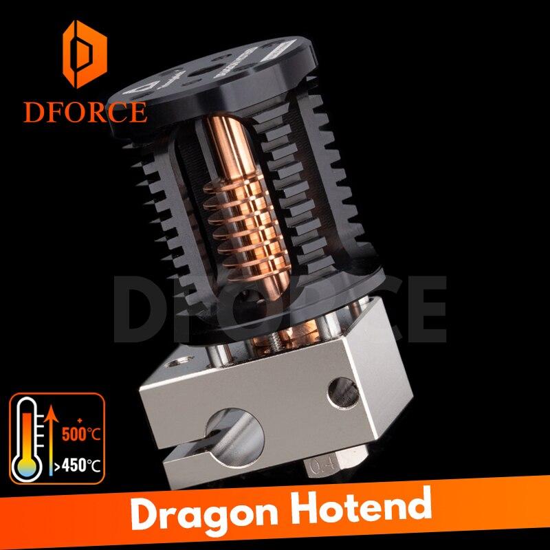 Tête d'extrusion d'imprimante 3D de précision supérieure DFORCE Dragon Hotend Compatible avec adaptateur V6 Hotend et moustique