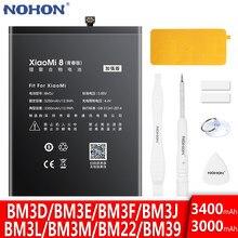 Аккумулятор NOHON для Xiaomi Mi 8 Lite Pro 9 SE 6 5 Mi8 Mi9 9SE 8SE 8Pro 8lite, запасная батарея BM22 BM3D BM3E BM3F BM3J BM3L BM3M