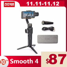 ZHIYUN Official Smooth 4 3 Axis Phone Gimbals Handheld Stabilizers for Smartphones iPhone/Samsung/Huawei/Xiaomi/Action Camera