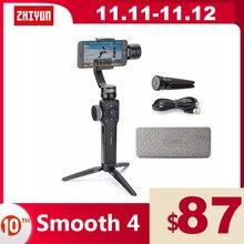ZHIYUN Smooth 4 الرسمية السلس 4 3 محاور الهاتف Gimbals يده مثبتات للهواتف الذكية آيفون/سامسونج/هواوي/شاومي/عمل الكاميرا