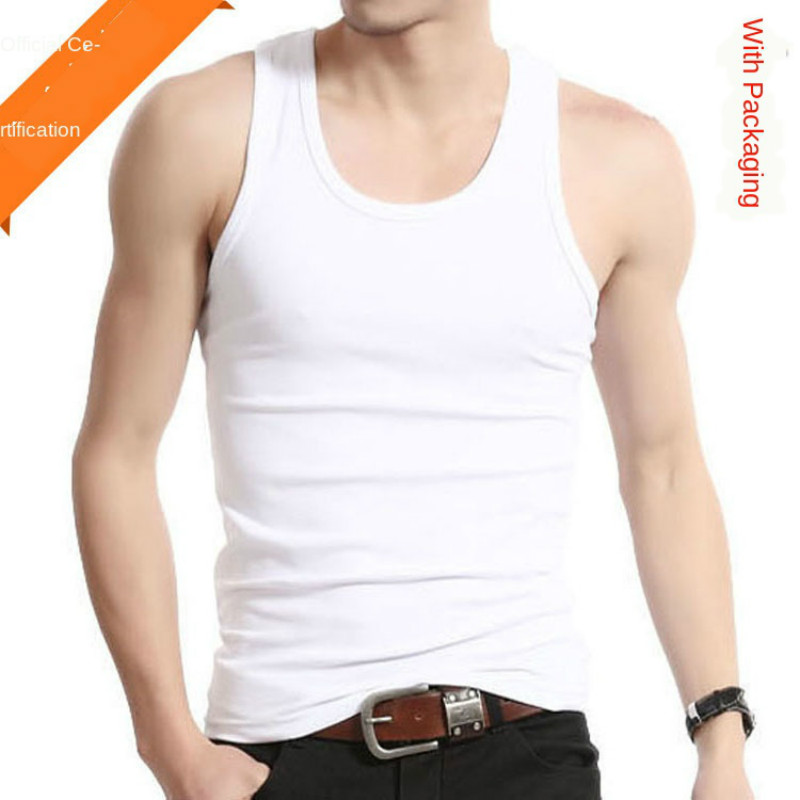 Undershirt Men Cotton Tank Tops Underwear Mens Transparent Shirts Male Bodyshaper Fitness Wrestling Singlets