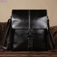 Men's Bag Shoulder Bag Shoulder Bag Full grain Leather Business Casual Bag Verticle Briefcase Men's Bag IPAD Package