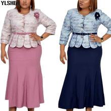 Комплект из 2 предметов африканские платья для женщин Дашики