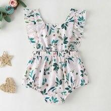 Floral Bodysuit Newborn Baby Girls Clothes Ruffle Floral Bod