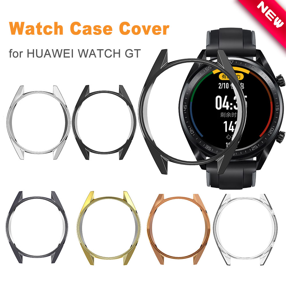 TPU Slim Smart Watch Protective Case Cover For Huawei Watch GT Case Frame AntiScratch Shell Smartwatch Accessories 42MM/46MM