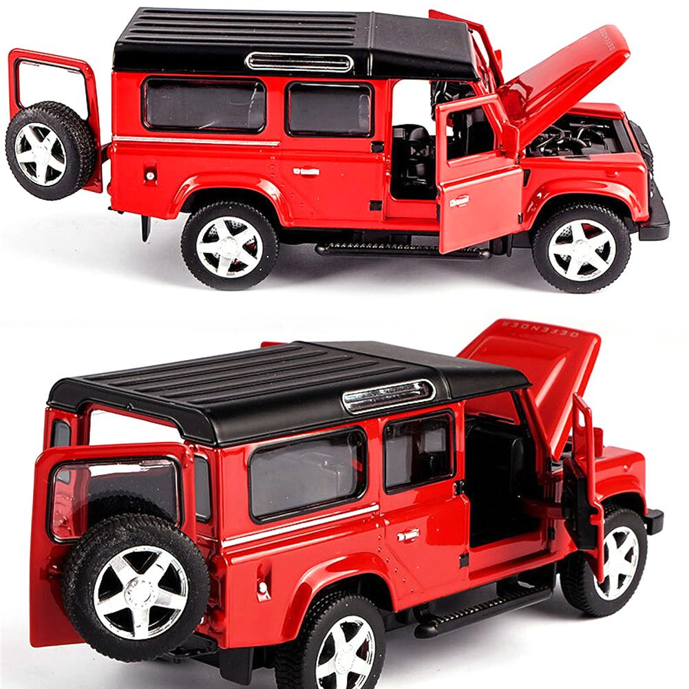 1:32 Scale Diecast Model Car Metal Model Classic Toy Car Alloy For Kids Toys Gift Collection Acousto-optic Pull-back Car Toy