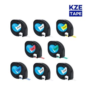 Letratag Tape 12267 91201 91200 12mm Plastic Tapes Label Tape Ribbon Tape Compatible Dymo Label Printer LT-100H LT-100T