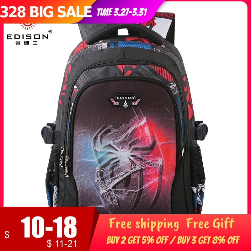 Edison New School Bag Children Backpack Boy Girl School Backpack Miracle Series Cartoon Student Bag 3D Printing Offload Backpack