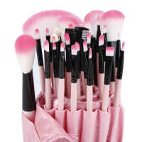 32pcs Soft  Eyebrow Shadow Makeup Brush Set Kit + Pouch Bag  Eyeliner Brush Detail Brush Glitter Brush Concealer Blush Lip Blush