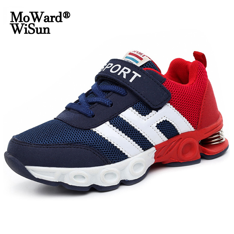 Size 26-39 Children Casual Shoes For Kids Boys Damping Design Running Sneakers For Girls Sport Shoes Breathable Mesh Trainers