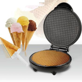 Electric Waffle Maker Crispy Egg Roll Maker Omelet Sandwich Pizza Pancake Crepe Maker DIY Ice Cream Cone Machine EU 220V stainless steel electric waffle maker commercial single head ice cream cone baker machine waffle cone egg roll making machine