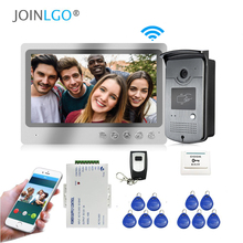 Free Shipping Wired WIFI 9 inch Screen Video Intercom Door Phone Record System Phone Monitor Remote Unlock RFID Doorbell Camera