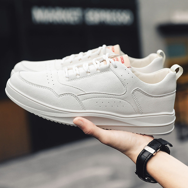 Casual Shoes Sneakers Men PU Leathable Autumn/Winter Fashion White Shoes Man Round Toe Classics High Quality Leisure Board Shoes