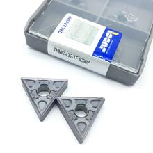 10 個 TNMG220408 TF IC907/IC908 外部旋削工具 tnmg 220408 超硬チップ旋盤カッター切削工具 CNC ツール