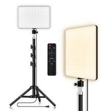 Panneau d'éclairage vidéo LED, lampe de remplissage à intensité variable pour photographie avec trépied professionnel, télécommande pour Youtube en direct, Tiktok