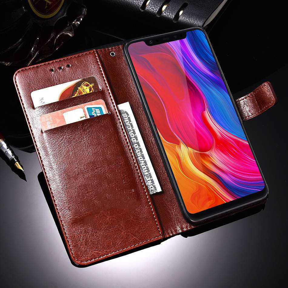 กระเป๋าสตางค์โทรศัพท์สีดำกรณีครอบคลุมสำหรับ Lenovo K910 Z6 Lite Pro A6 หมายเหตุ A816 S858T A328 X2 A590 A830 หนังพลิกกรณี