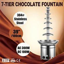 Шоколадный фонтан 7 круглый Ланч-бокс машина для шоколадного фонтана фонтан из шоколадного фондю для торжественных случаев, так как вечерние, свадебные туфли