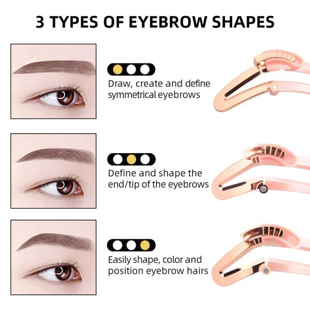 1 Pcs Reusable Adjustable Eyebrow Stencil Eye Brow Makeup Model Template Eyebrow Makeup Shaper Eyebrows Card Styling Tools TSLM1 3
