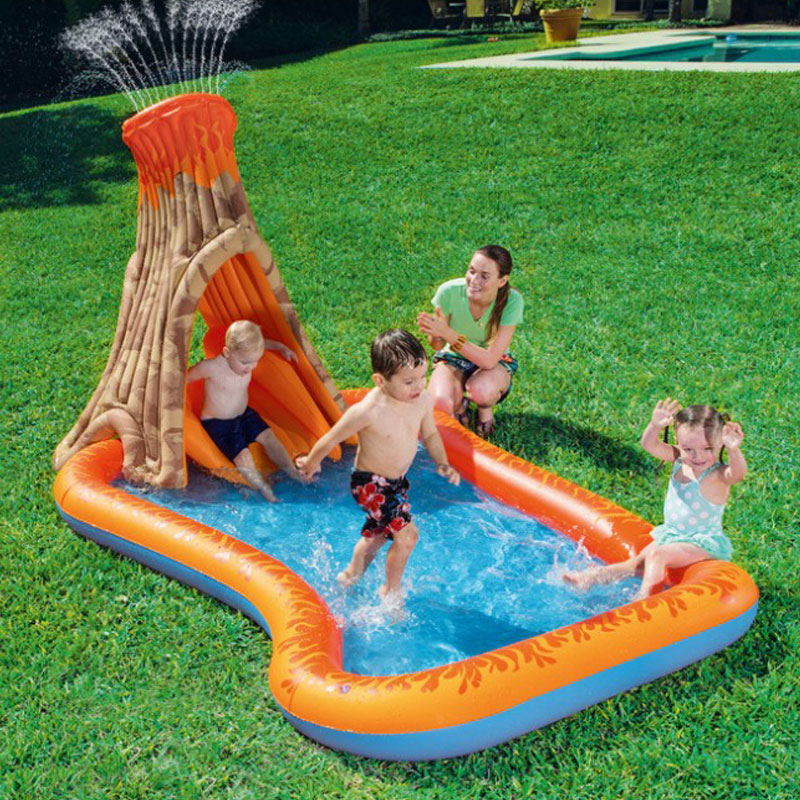 Outdoor Park Water Slide Inflatable Pool With Slide Children's Pool Swimming Inflatable Water Slides For Kids Sliding Board Toy