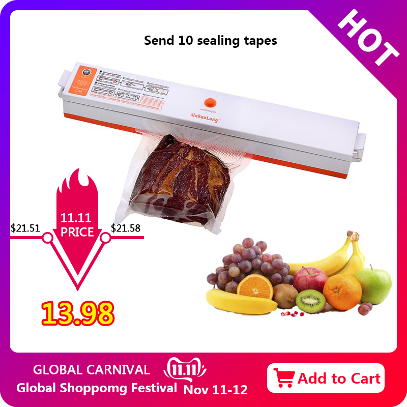 Vacuum Packaging Machine Bag Compression Sealing Automatic Food Preservation Plastic