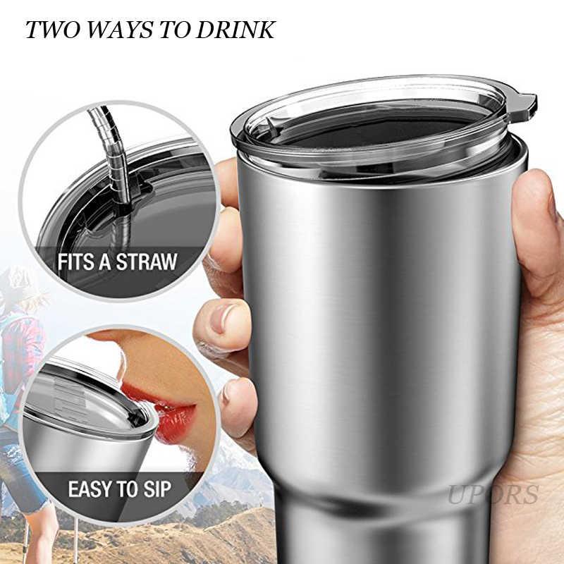 900 ミリリットルステンレス鋼マグ断熱タンブラー二重層水力フラスコ真空ポータブル水カップ蓋トラベル用品