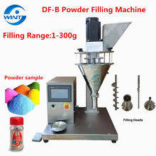 Semi-auto Auger Powder Filling Machine 1-300g Applicable to Pepper,Coffee Powder, Gypsum Powder,Toner Flour Milk Powder Filler