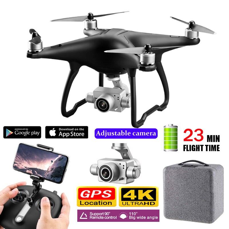 NEUE Bürstenlosen Drone mit Gimbal 4K HD Kamera 5G WIFI FPV Quadcopter Doul GPS Folgen Mir 23 Minuten flug Profissional RC Drone