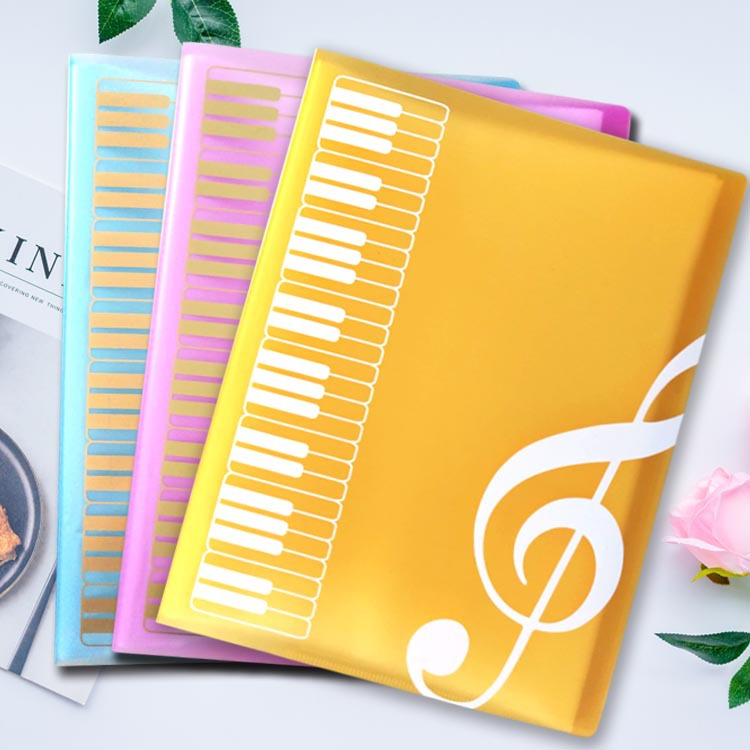 1pcs Creative A4 Music Teaching Supplies 40 Layer Music Piano Score File Folder Fashion School Music Learning Filing Products