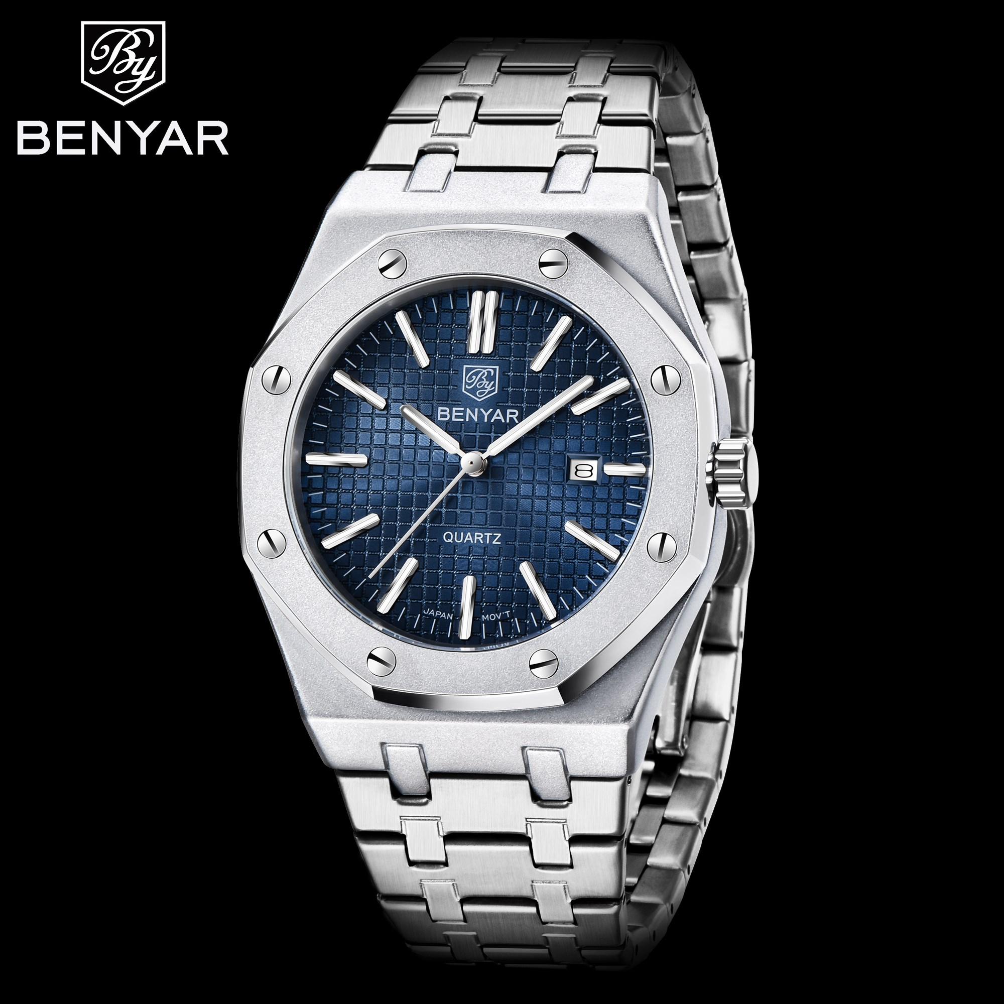 Men Watches BENYAR 2020 High-End Luxury Brand Quartz Watch Analog Waterproof Sport Army Military Wrist Watch Relogio Masculino