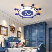 New Arrival led lampy sufitowe z pilotem Sea Roulutte projektant dla dziecka sypialnia babyroom dzieci lamparas de techo w Oświetlenie sufitowe od Lampy i oświetlenie na