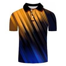 Уличная цветная Мужская рубашка поло с коротким рукавом дышащая