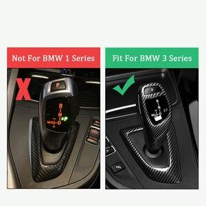 Image 5 - De fibra de carbono pomo de palanca de cambios manga cubre Botón de pegatinas para BMW F20 F30 F32 F10 F25 F15 F16 Interior accesorios RHD LHD