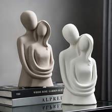 Nordic scultura astratta carattere decorazione resina amore statue decorazione domestica moderna soggiorno scrivania decorazione regalo