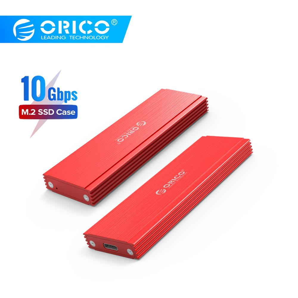 ORICO M2 SSD Case NVMe NGFF M.2 SSD Enclosure USB3.1 Type-C Gen2 10Gbps For Samsung Intel 2230 2242 2260 2280 NVME SSD SATA SSD