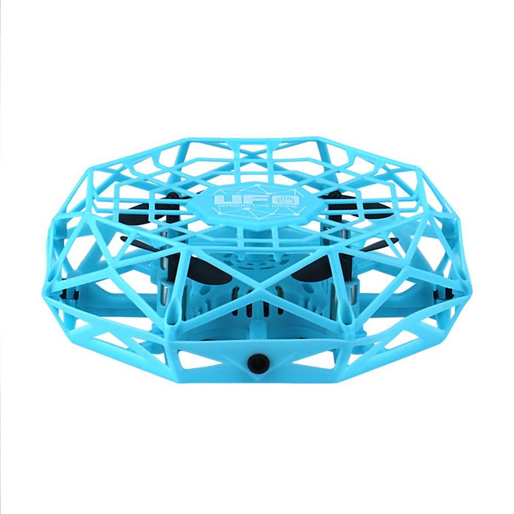 Kids 4-Axis Mini Drone UFO Infrared Induction Hand Control Flying Aircraft Toy